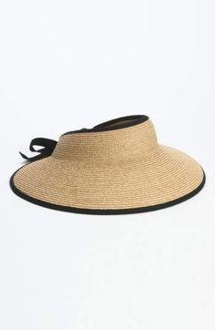 f789713dfcf Helen Kaminski  Mita  Packable Raffia Visor Hats For Women