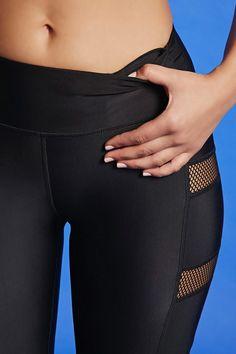 Leggings Deportivos Paneles Malla - Mujer - Deportiva - Pants + Leggings - 2000321821 - Forever 21 EU Español