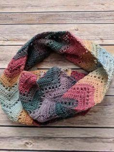 Crochet Wool Scarf in Jewel Tones Green cec279c22