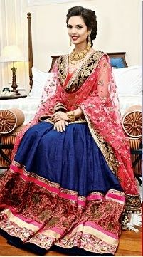 Esha Gupta in Manish Malhotra Pink and blue was also a winning combination for the year - love this piece on Esha Gupta. Indian wedding - Indian fashion - Indian bridal - Indian designer - Indian couture #thecrimsonbride