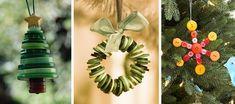Adornos con botones para decorar el árbol de Navidad Ideas Geniales, Christmas, Friends, Easy Crafts, Crafts To Make, Lightbulb Ornaments, Button Ornaments, Unique Christmas Trees, Christmas Colors