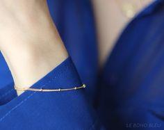 16k Gold Plated Dainty Bracelet by Le Boho Bleu