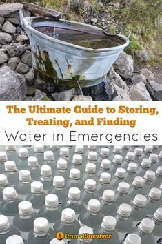 Survival Water For Preppers Survival Water For Survival Water. A comprehensive look at how to store, treat and find water in an emergency situation. Water is an essential part of a successful disaster. Survival Quotes, Survival Food, Homestead Survival, Wilderness Survival, Outdoor Survival, Survival Prepping, Survival Skills, Survival Supplies, Survival Hacks