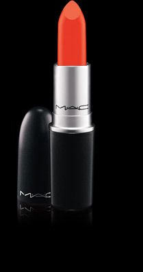 MAC Cosmetics Lipstick in Neon Orange- worn over a lip balm it gives your lips the appearance of having noshed on fresh citrus & tropical fruits. Worn alone, it gives a modern and summery twist to the basic red.