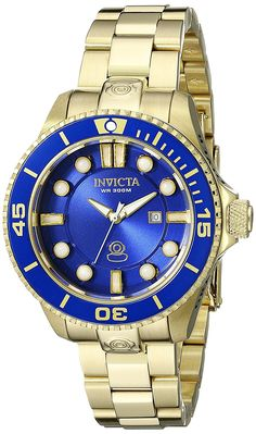 Invicta Women's 19818 Pro Diver Analog Display Swiss Quartz Gold Watch * You can get more details by clicking on the image.