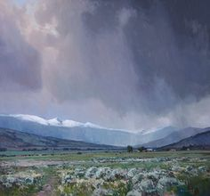 May Showers by Josh Elliott Oil ~ 32 x 34. Love the way these clouds are handled!