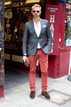 Friend of JANE CARR HOMME photographer Alistair Guy spotted by British GQ during Men's Fashion Week London 2012