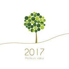 Offrez cette carte de voeux arbre pour souhaiter une nouvelle année sur le thème de la croissance. Avec ses petites touches aux nuances de vert, cette carte répandra la joie chez vos collaborateurs.