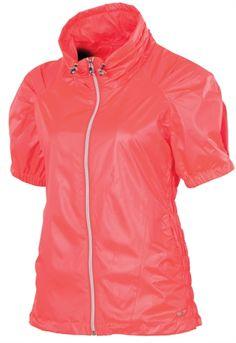 SUNICE Sophia Short Sleeve Wind Jacket in Diva Pink #golf4her