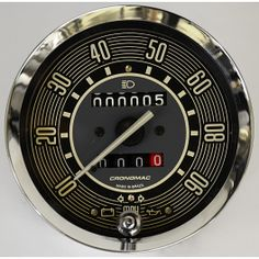 Speedometer Beige 90 Mph  with partial LED lighting For Bug and Bus Kombi  T1. (vintage style) Shipping Worldwide . BUY NOW !