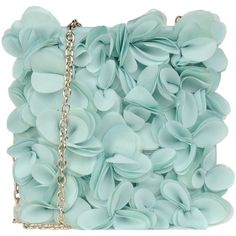 Blumarine Small Fabric Bag (9.775 RUB) ❤ liked on Polyvore featuring bags, handbags, clutches, borse, purses, turquoise, man messenger bag, flower handbags, green messenger bag and evening handbags