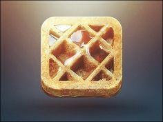 Apps Development PinWire: Morning Dribbble freshly baked waffle anyone? :D Super size waffle . Web Design, App Icon Design, Ui Design Inspiration, Graphic Design, Flat Design, Design Ideas, Design Tutorials, Logo Design, Mobile App Icon