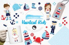 Nautical graphics and illustrations By Prettygrafik Design