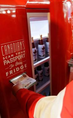 Oh Canada, eh? Beer fridge for Canadians abroad. Canadian Beer, Canadian Things, I Am Canadian, Canadian Bacon, Apply For Passport, Canada 150, Toronto Canada, Canadian Passport, All About Canada