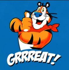 Image result for great tony tiger gif