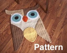 Items similar to SALE! Whoo, Whoo let this large owl in your house - 46 in Owl Rug on Etsy
