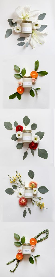 Such a nice idea to present a product differently.  Prop Styling - Candles and Flo