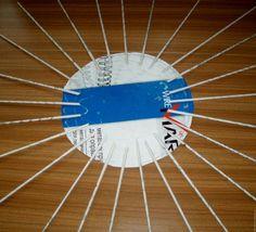 Papír talp- felvezetés lépésről-lépésre  fonott kosár