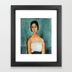 Christina by Amedeo Modigliani, 1916 Framed Art Print