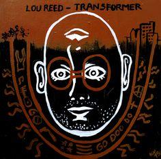 TRANSFORMER / LOU REED Serie inspirada en Tapas de discos  Tabla 2015 / Acrílico