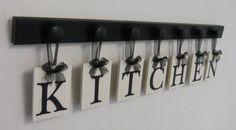 Kitchen Wall Art Custom Signs Set includes Letters by NelsonsGifts, $37.00