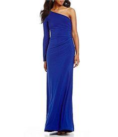 0acf67ebc B. Darlin One-Sleeve Long Dress Junior Dresses, Formal Prom, Dillards,