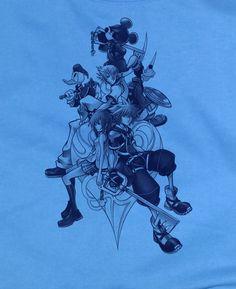 Custom Fanmade Kingdom Hearts Donald Goofy Sora T-Shirt Tee Tshirt