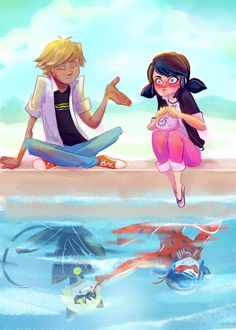 Adrien Agreste/Chat Noir and Marinette Dupain-Cheng/Ladybug Miraculous Ladybug Chat Noir, Miraculous Ladybug Wallpaper, Miraculous Ladybug Memes, Meraculous Ladybug, Ladybug Comics, Lady Bug, Les Miraculous, Chat Origami, Marinette E Adrien