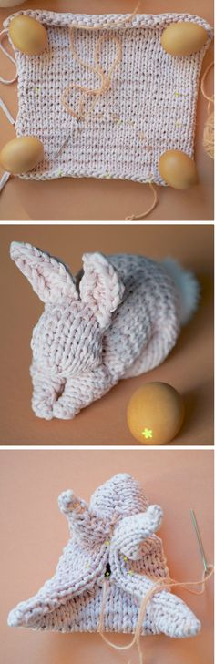 You will love this Knitted Bunny From A Square Pattern and we have a video tutorial that will show you how. Check out all the cute ideas now.
