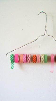 percha con washi tape