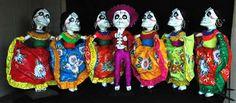 """Fantastico!    Skeleton Mexican hat dance ~ large papier mâché 26"""""""