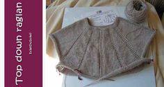 Ravelry: Top-down raglan : tutoriel en français pattern by EclatDuSoleil Baby Knitting, Crochet Baby, Crochet Top, Cardigan Pattern, Crochet Cardigan, Raglan Pullover, Ravelry Crochet, Knitting Patterns, Sweaters