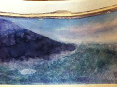 watercolor seascape, 13 year old artist. $25.