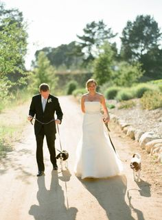 fur babies welcome at this gorgeous wedding  Photography by aarondelesie.com