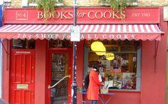 cookbook shop in Notting Hill, London, UK