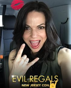 Lana Parrilla Those of you here at the New Jersey Convention, please use the new #EvilRegals Snapchat filter  : itslanaparrilla