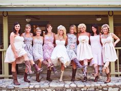 love miranda. love sundresses. love cowgirl boots. love wedding!!! http://media-cache7.pinterest.com/upload/9359111695163694_H6yEGEE3_f.jpg juliamartin i love love