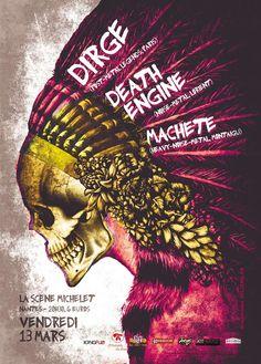 Création de l'affiche pour un concert à Nantes | JulienG Webdesigner graphiste Création de sites