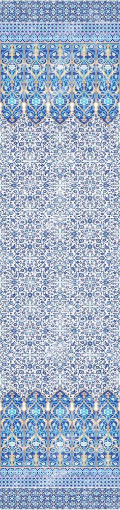 Palace Collection - Iznik Overdyed Wallpaper 4 Yard Panel Roll - The Nicolette Mayer Collection