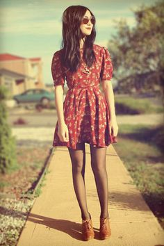 holidays, thanksgiving look, dress, printed dress, oxfords