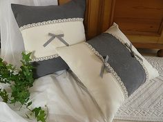 (94) Gallery.ru / Фото #110 - Подушки - elena196905 Cute Pillows, Diy Pillows, Cushions On Sofa, Decorative Pillows, Throw Pillows, Cushion Covers, Pillow Covers, Shabby Chic Cushions, Cute Quilts