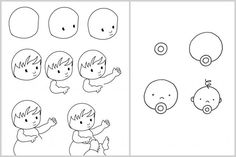 Techniques faciles pour apprendre à dessiner #enfants #bébé