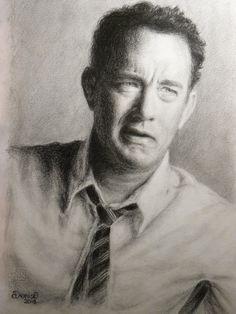 Tom Hanks by DeniseEsposito on DeviantArt Celebrity Drawings, Celebrity Portraits, Amazing Drawings, Amazing Art, Drawing Sketches, Pencil Drawings, Pencil Art, Sketching, Star Wars