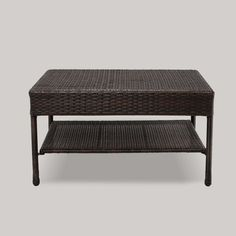 Threshold Wicker Patio Coffee Table - Brown