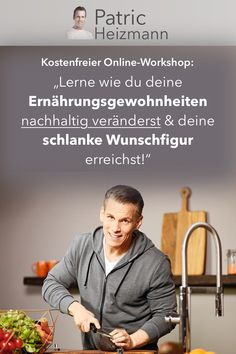 """Kostenfreier Online-Workshop Free Online Workshop with Coach Patric Heizmann: """"Learn how to change your eating habits sustainably & achieve your slim wishful figure! Rice Recipes For Dinner, Easy Soup Recipes, Tilapia Recipes, Chicken Wing Recipes, Workshop, Frittata Recipes, Lasagna Recipes, Lasagna Soup, Sloppy Joes Recipe"""