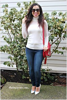 Wantable Style Edit Review, Turtleneck Sweater, Jeans