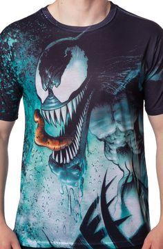 Venom Sublimation Shirt: Super Heroes Marvel Comics Venom T-shirt