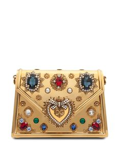 Dolce & Gabbana, Trendy Purses, Designer Crossbody Bags, Designer Bags, Gold Heels, Brass Chain, Clutch Purse, Designing Women, Metallica
