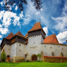 Photo about Viscri fortified church in Transylvania, Romania. It is a UNESCO World Heritage site. Image of summer, eastern, spring - 27976360 Places In Europe, Places To See, World's Most Beautiful, Beautiful Places, Wonderful Places, Visit Romania, Place Of Worship, Travel And Leisure, Eastern Europe