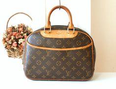 Louis Vuitton Bag Trouville Monogram Vintage Handbag France Authentic Tote By Allvin